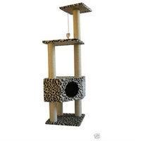 Bestpet 52 Leopard Skin Cat Tree Condo Scratcher Pet House