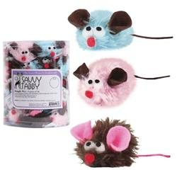 Savvy Tabby Snuggle Mice Canister - 48 Pieces