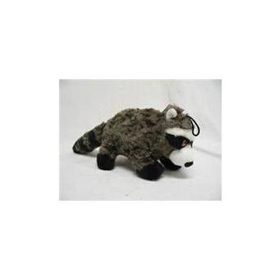 Patchwork Pet Plush Swirl Raccoon Black 15 Inch