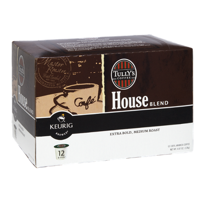 Keurig Brewed Tully's Coffee House Blend Extra Bold, Medium Roast K-Cups - 12 PK
