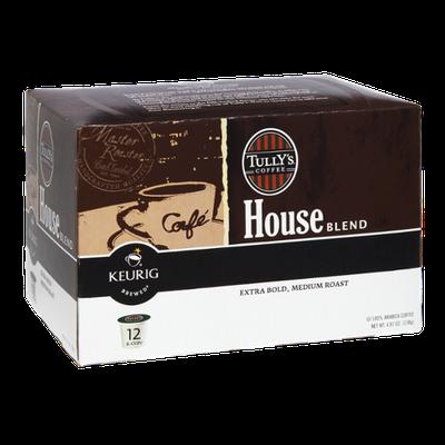 Keurig Brewed Tully's Coffee House Blend Extra Bold, Medium Roast K-Cups - 12 PK