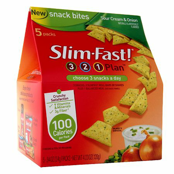 SlimFast 3.2.1 Plan Sour Cream & Onion Snack Bites