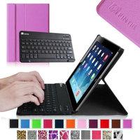 Fintie Wireless Bluetooth Keyboard Case for Apple iPad 4th Generation with Retina Display, iPad 3 & iPad 2, Violet