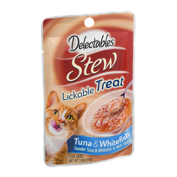 Delectables Stew Lickable Treat For Cats Tuna & Whitefish