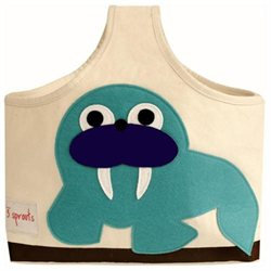 3 Sprouts Blue Walrus Storage Caddy