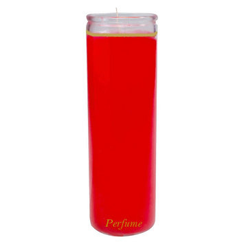 Continental Candle Red Jar Candle, Unscented
