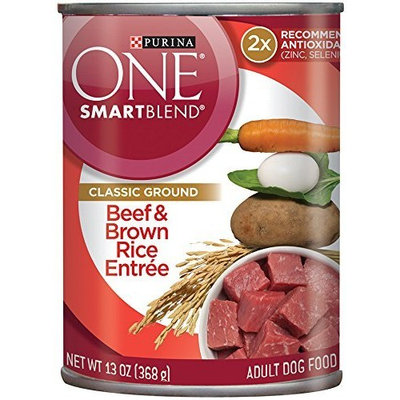 PURINA ONE®  SmartBlend classic Ground Beef & Brown Rice Entree Dog Food