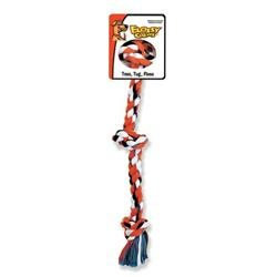 Mammoth Pet Products Cotton Blend 3 Knot Rope Tug Dog Toy in Multi
