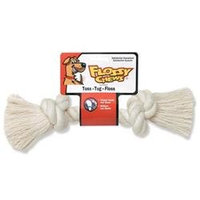Mammoth Pet Products Rope Bone Dog Toy in White