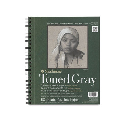 Pro-Art Strathmore Spiral-Toned Sketch Book, 9