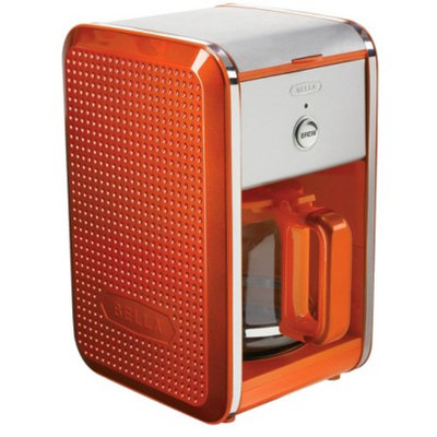 Bella Dots 12 Cup Coffee Maker - Orange