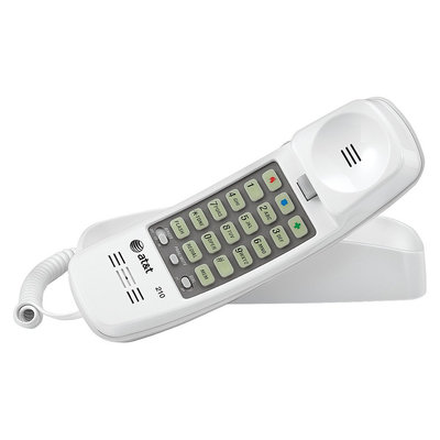 AT & T White Trimline Phone, TL-210