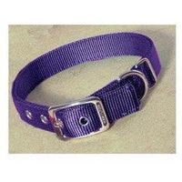 Hamilton Pet Products Double Thick Nylon Deluxe Dog Collar in Hot Purple