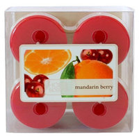 Pacific Trade Home Scents Mandarin Berry Wax Votive Candle 4-pk.