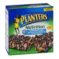 Planters NUT-rition Antioxidant Bars Almonds, Blueberries & Dark Chocolate - 5 CT