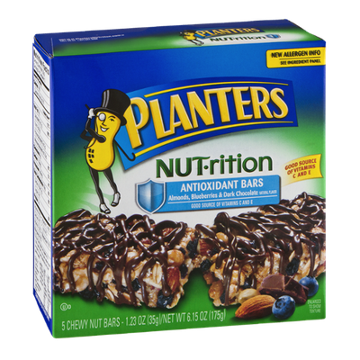 Planters NUT-rition Antioxidant Bars Almonds, Blueberries & Dark Chocolate