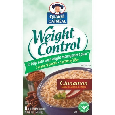 Quaker® Instant Oatmeal Weight Control, Cinnamon