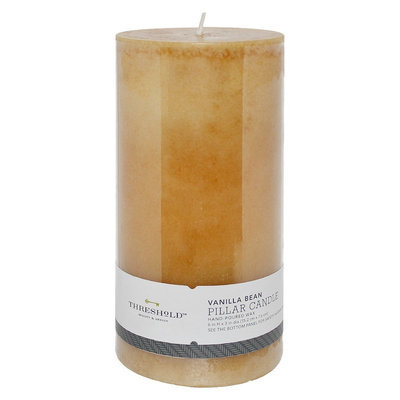 Threshold #153; Tahitian Vanilla Mottled Ivory Hand-Poured Pillar Candle 3