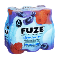 Fuze Slenderize Blueberry Raspberry Healthy Infuzions Naturally Flavored Beverage- 6 PK