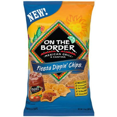 Generic On The Border Mexican Grill & Cantina Fiesta Dippin' Chips Tortilla Chips, 13 oz