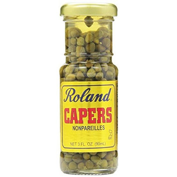 Roland Nonpareille Capers, 3-Ounce (Pack of 12)