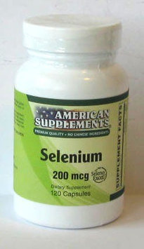 Selenium 200 MCG No Chinese Ingredients American Supplements 120 Caps