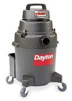DAYTON 4YE68 Wet/Dry Vacuum, 2 HP, 10 gal, 120V