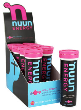 Nuun Energy B-Vitamin And Caffeine Enhanced Electrolyte Drink Tablets Wild Berry