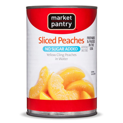 Market Pantry No Sugar Added Sliced Peaches 15 oz