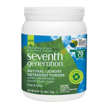 Seventh Generation Powder Laundry, Free & Clear, 50 oz