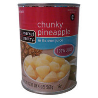 Market Pantry Chunky Pineapple 20 oz