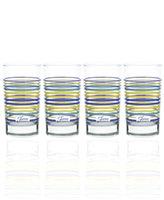 Fiesta Set of 4 Lapis Stripe Juice Glasses