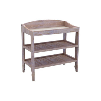 Lolly & Me Sawyer Baby Diaper Table Driftwood Whitewash