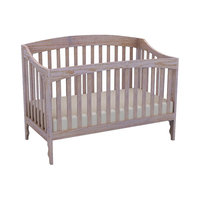 Lolly & Me Sawyer 4-in-1 Convertible Crib - Driftwood Whitewash