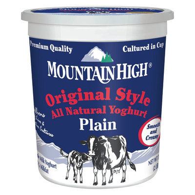 Dean Foods Mountain High All Natural Original Plain Yoghurt 32 oz
