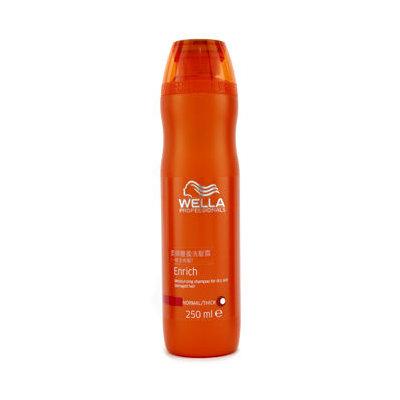Wella Enrich Moisturizing Shampoo For Dry & Damaged Hair (Normal/ Thick) 250ml/8.4oz
