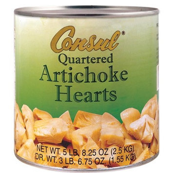 Roland Consul Quartered Artichoke Hearts, 5.5-Pounds Cans (Pack of 2)