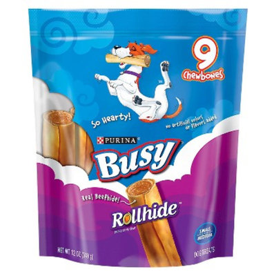 Purina Busy Bone Busy Rollhide Beefhide Dog Treats - 9 pk