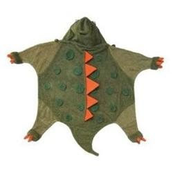 Kidorable Kidorable dinosaur towel small Small Dinosaur Infant Towel - Army Green