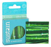 Sustain - Lubricated Latex Ultra-Thin Condoms - 3 Pack
