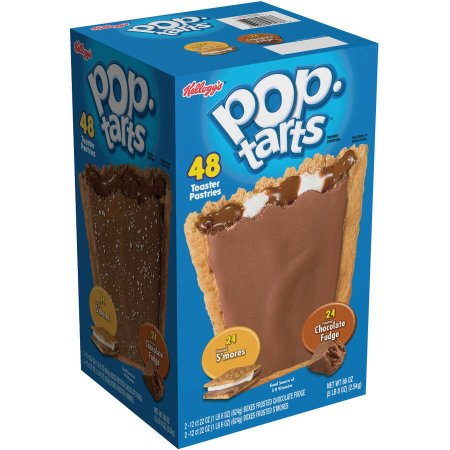 Kellogg's Pop-Tarts Frosted S'mores/Frosted Chocolate Fudge Toaster Pastries, 48 count