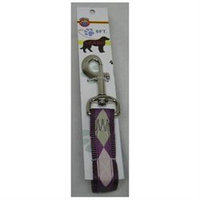 Hamilton Pet Company - Nylon Lead With Snap Carded- Argyle-plum 1 Inch X 6 Foot - C SLO RO 6 ARPM