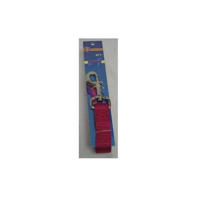 Hamilton Pet Company - Nylon Lead With Snap Carded- Raspberry .63inchx6foot - C B SLF 6RS