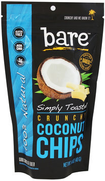 Bare Fruit - 100 Natural Crunchy Coconut Chips Simply Toasted - 1.4 oz.