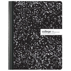 Office Depot(R) Brand Schoolio Marble Composition Book, 9 3/4in. x 7 1/2in, College Ruled, 80 Pages (40 Sheets), Black/White