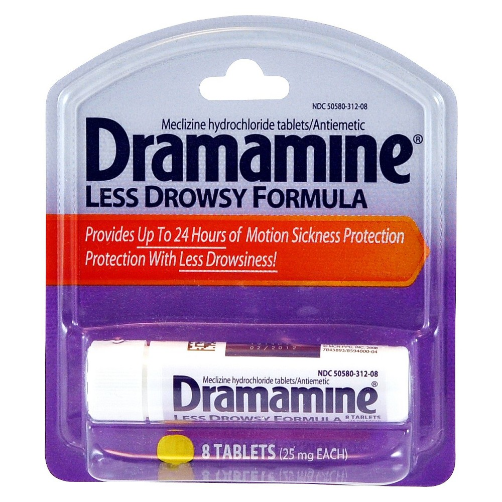 Dramamine Less Drowsy 25 mg