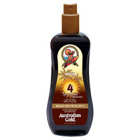 Australian Gold Sunscreen Spray Gel with Instant Bronzer SPF 4 - 8 oz