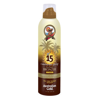 Australian Gold Sunscreen Continuous Spray with Instant Bronzer SPF 15 - 6 oz