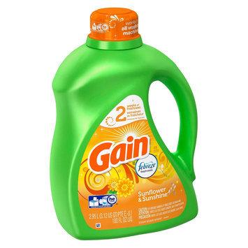 Gain with Febreze Freshness HEC Sunflower & Sunshine Liquid Laundry Detergent 100 oz