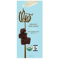 Theo Chocolate 23488 Organic Milk Chocolate 45 Percent Cacao Bar